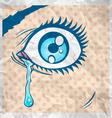 eye comics vector image