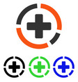 health care diagram flat icon vector image