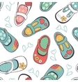Little girl shoes seamless pattern vector image