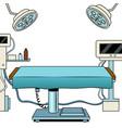 medical surgical room pop art vector image