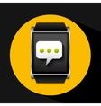 smart watch concept bubble chat social media vector image