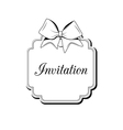 Label Ribbon Bow Wedding Invintation Template vector image