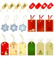 shopping label christmas style vector image