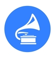 Gramophone icon of for web and vector image