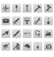Tools icons on gray squares vector image