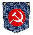 russian denim pocket vector image