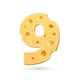 Nine cheese number vector image vector image