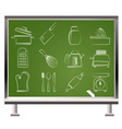 kitchen and household icons vector image vector image