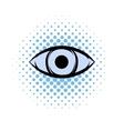 All-seeing eye comics icon vector image