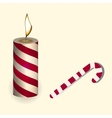 a red Christmas candle and vector image