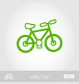 bicycle outline icon summer vacation vector image