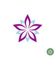 Five leaves lotus flower logo template vector image