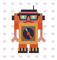 Robot hipster Dj vector image