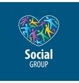 Social Group logo vector image