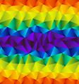 triangular rainbow background vector image