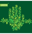 with hands from leaves about green vector image