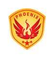 phoenix emblem vector image vector image