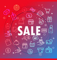 sale concept different thin line icons included vector image
