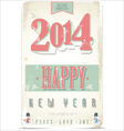 Happy New Year retro background vector image vector image