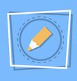 pencil icon writing web button vector image