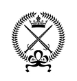 Royal emblem with crossed swords vector image