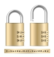 Combination padlocks vector image