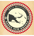 Vintage label-sticker cards of Papua New Guinea vector image