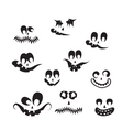 ghost faces pumpkin faces vector image