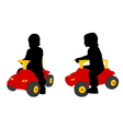 toddler car vector image