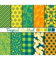 Set of 10 simple seamless patterns Tropical vector image