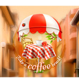 Cafe coffee and pastry shop a cup of coffee with vector image