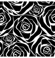 black roses pattern vector image