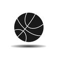 icon basketball ball with shadow vector image