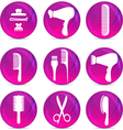 Hair Dressing Tools vector image