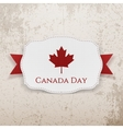 Canada Day Emblem with Ribbon vector image