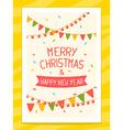 christmas card with hand written text on vector image