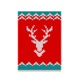 christmas poster reindeer vector image