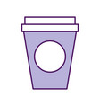 coffee plastic cup icon vector image