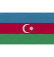 Flags Azerbaijan on denim texture vector image
