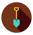 Garden Tool Shovel Circle Icon vector image