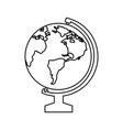 geography tool icon vector image