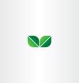 green eco leaf logo element vector image