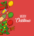 merry christmas poster greeting invitation design vector image