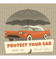 Protect your car vector image