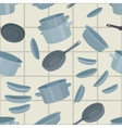 seamless background with cookware vector image