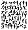 Various Silhouettes Sports Activities vector image