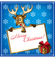 Cristmas deer card 2 vector image vector image