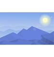 Beautiful landscape mountain and hill of vector image