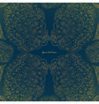 Art floral golden pattern on dark background vector image