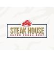 Steak House Typography Label Emblem or Logo vector image